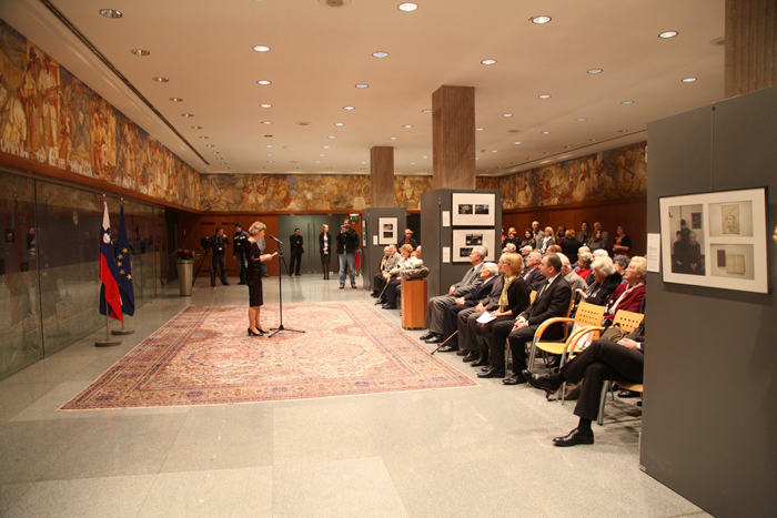 Last Witnesses exhibition at the National Assembly, Slovenia
